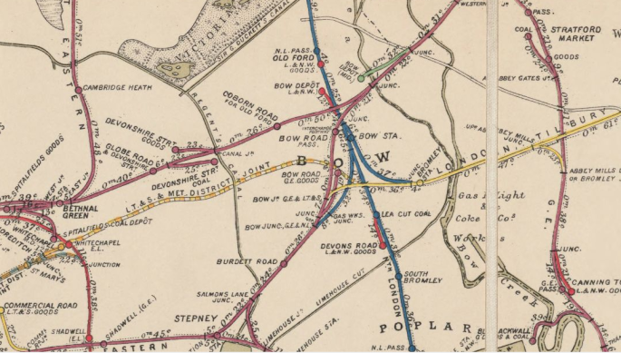 1899 Railway Map