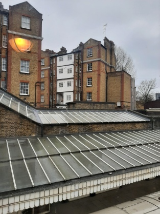 WB from Bow Road Station window